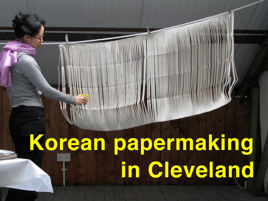 Korean Papermaking in Cleveland's video poster