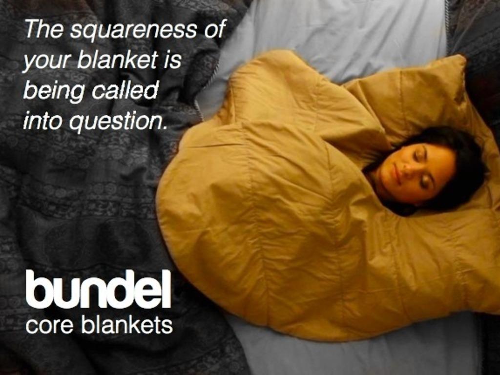BUNDEL blanket design retains core body heat, made in USA.'s video poster