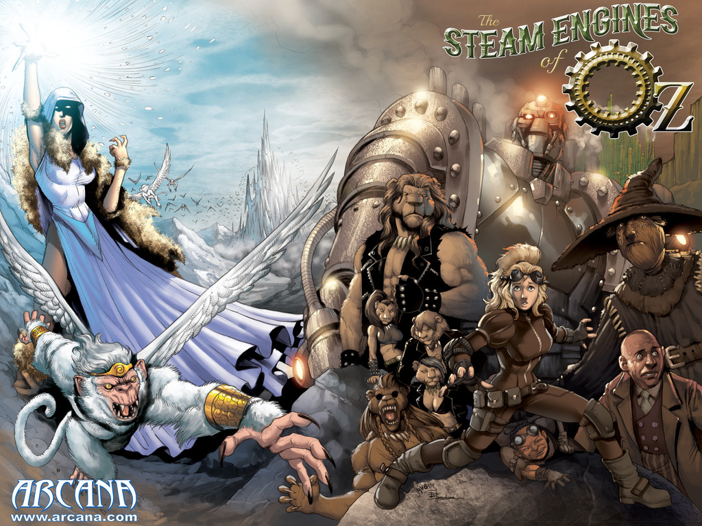 The Steam Engines of Oz original graphic novel's video poster