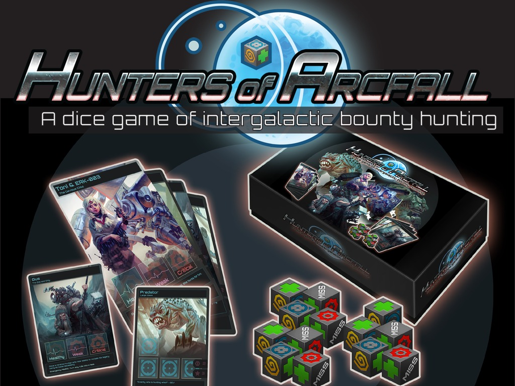 Hunters of Arcfall -  A Sci-Fi Bounty Hunting Dice Game's video poster
