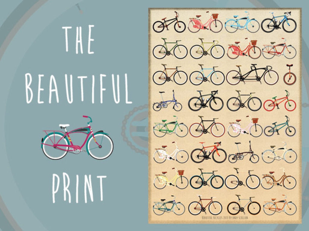 The Beautiful Bicycle Print's video poster