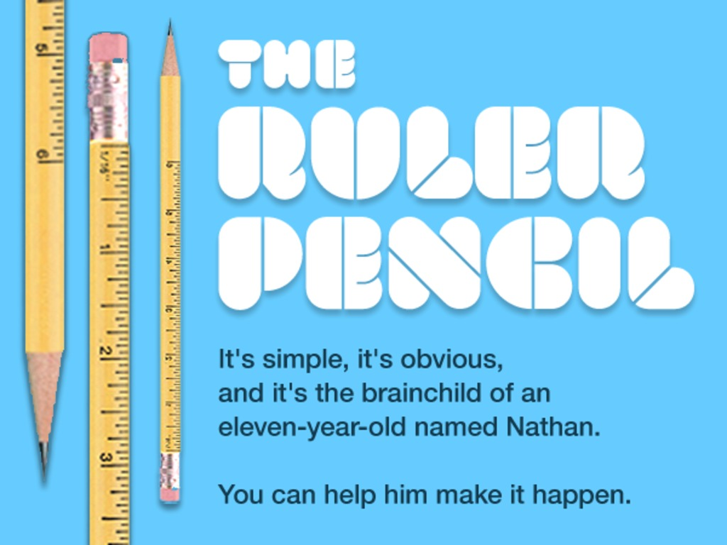 Ruler Pencils: a brilliant idea, invented by a kid.'s video poster