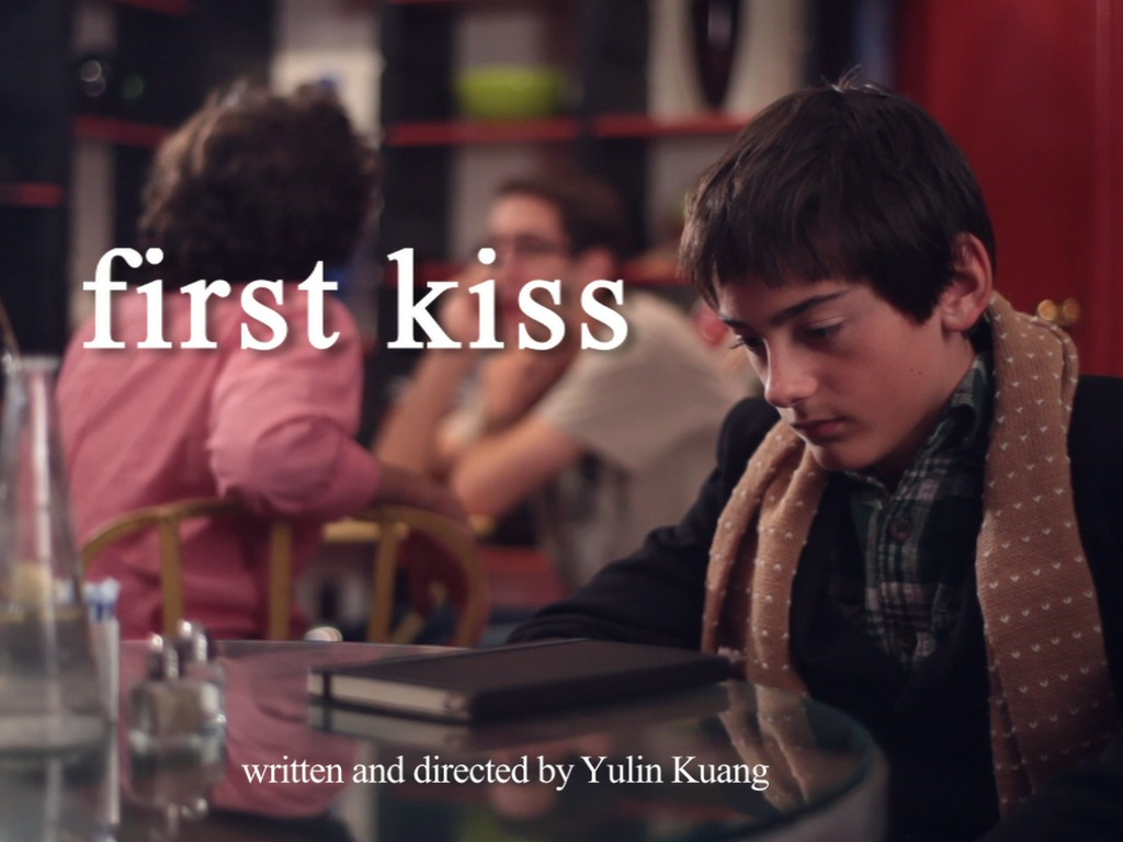 First Kiss: a short film's video poster