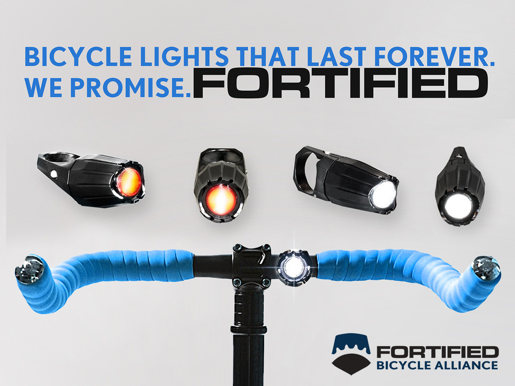 FORTIFIED: Bike Lights That Last Forever. We Promise.'s video poster