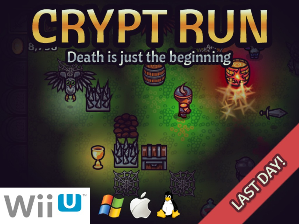 Crypt Run: Death is just the beginning (Wii U/PC/Mac/Linux)'s video poster
