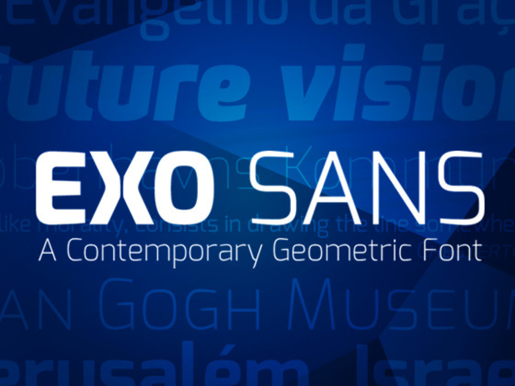 The Exo Typeface Family's video poster