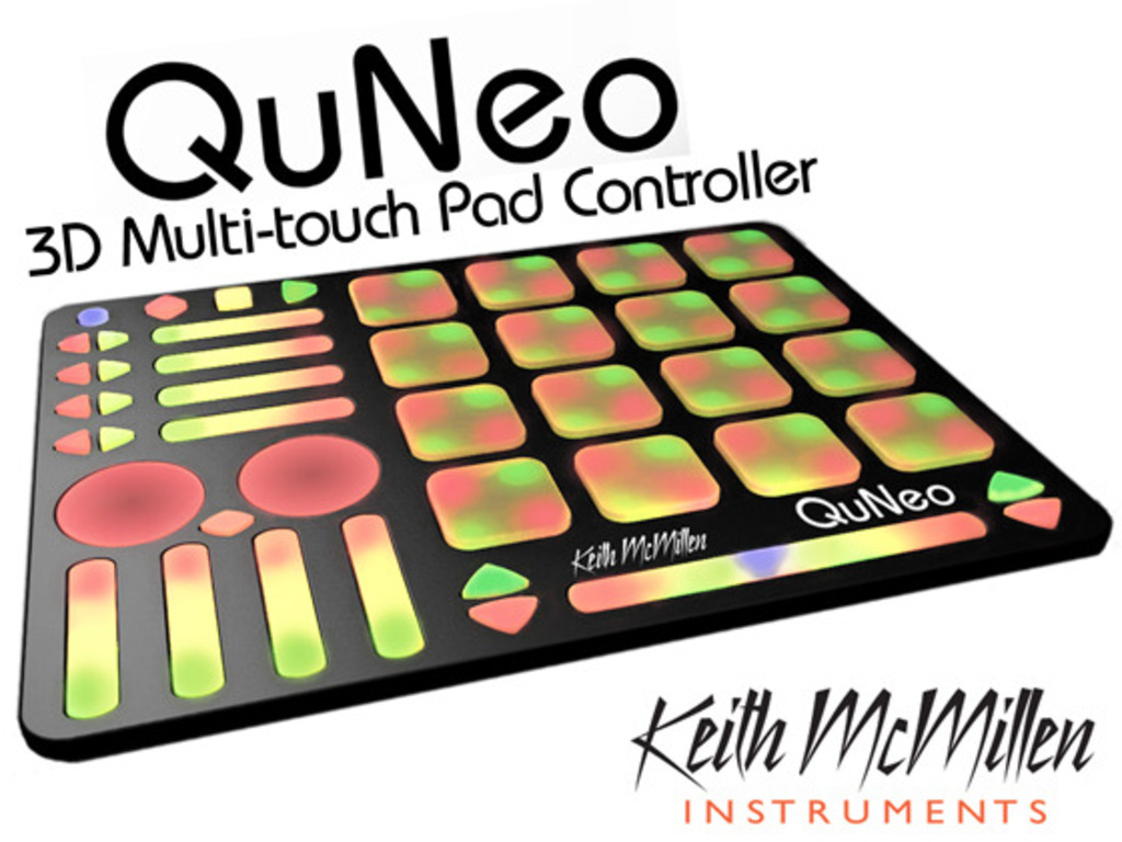 QuNeo, 3D Multi-touch Open Source MIDI & USB Pad Controller's video poster