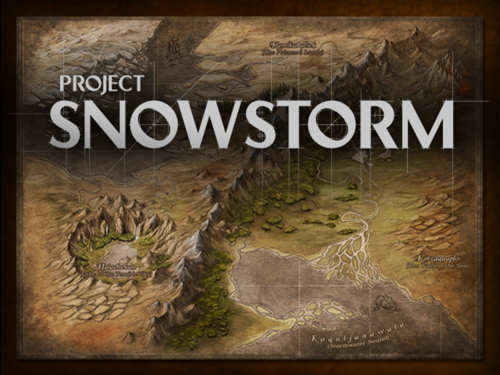 Project Snowstorm's video poster