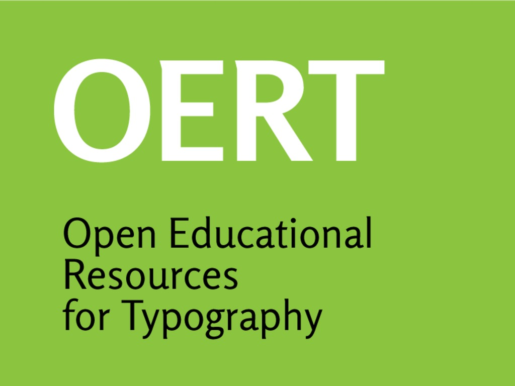 OERT: Open Educational Resources for Typography's video poster