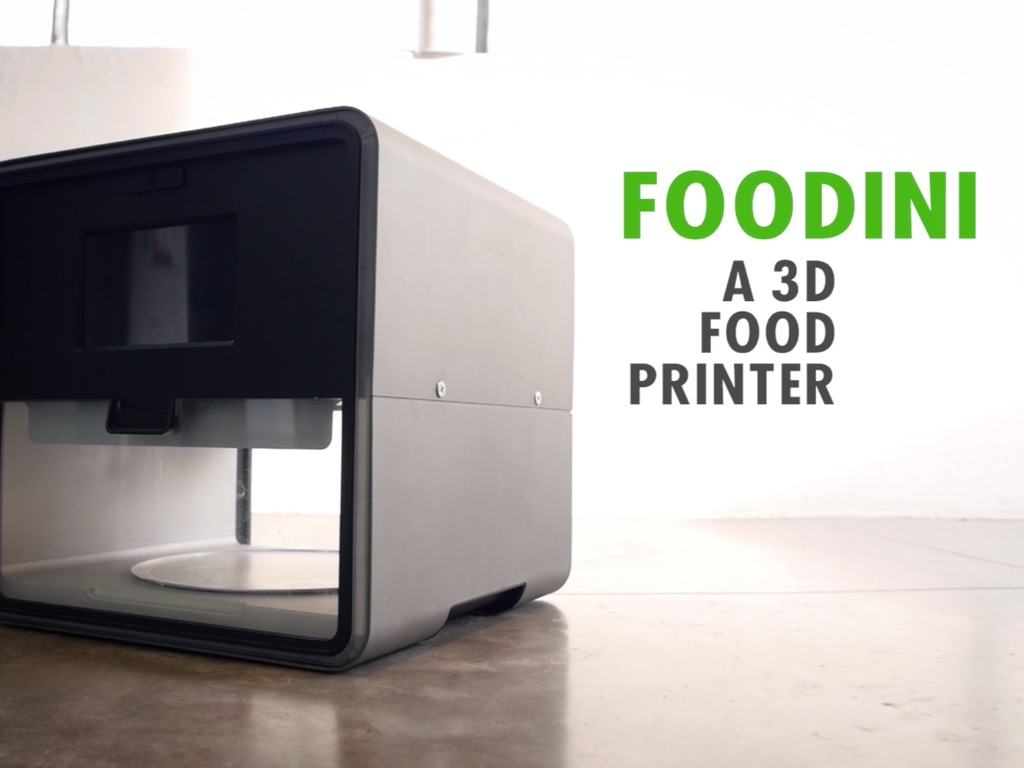 Designed for Healthy Eating: Foodini - a 3D Food Printer's video poster