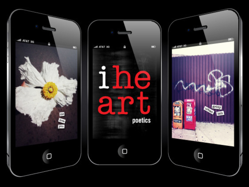 iheart poetics : a visual poetry app for iPhone's video poster