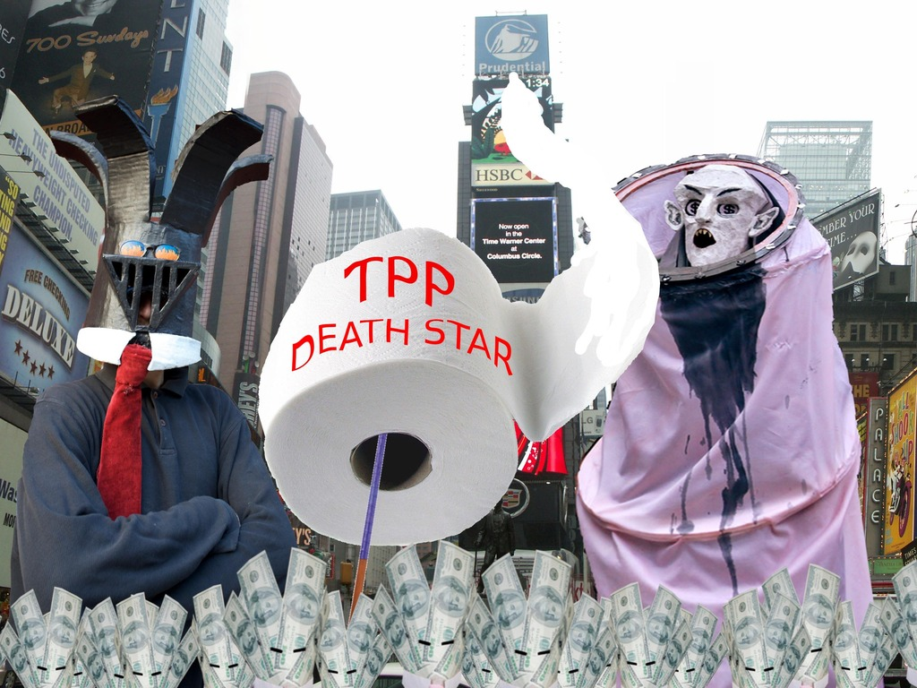 MONEY WARZ: #TPP DEATH STAR video for #OWS 2nd anniversary's video poster