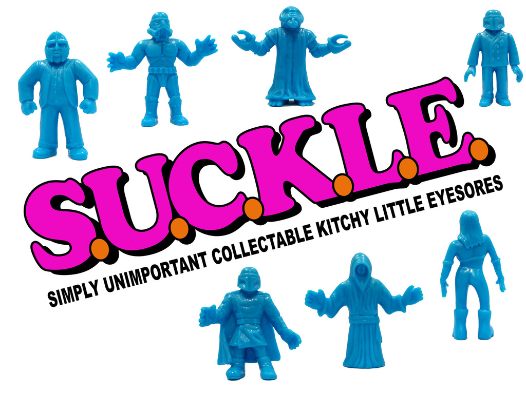 SUCKLE mini figures created by The Super Sucklord's video poster