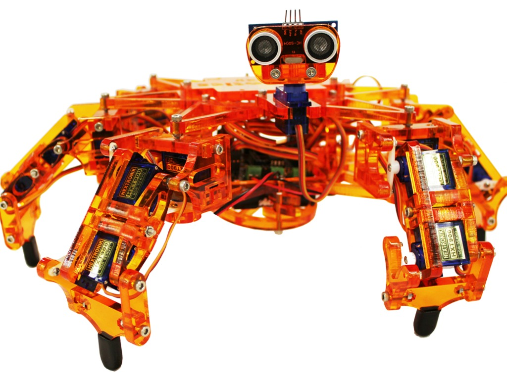 Hexy the Hexapod - Low-Cost Six-Legged Open Robot's video poster