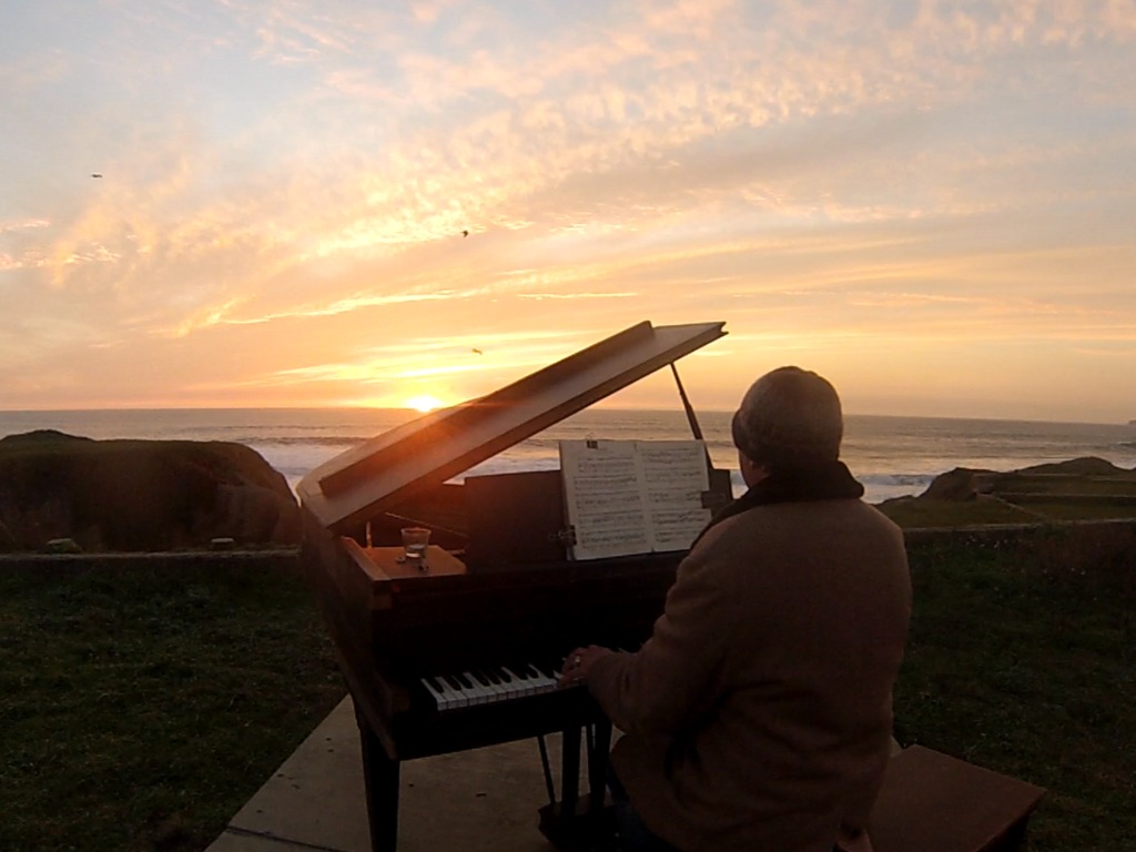 Sunset Piano Opus Two for Twelve Pianos's video poster
