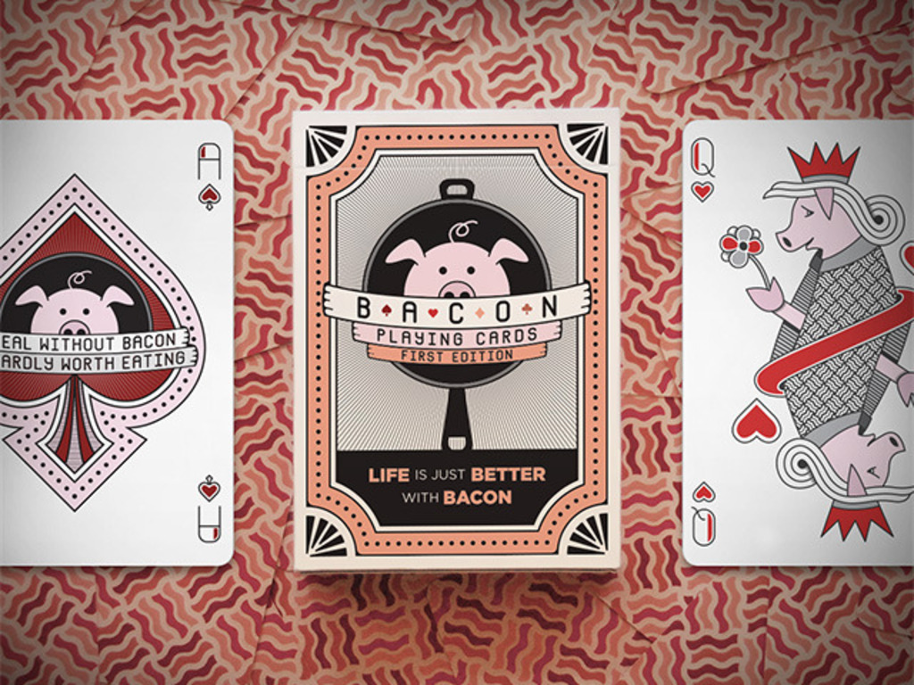 "Bacon Playing Cards + ""Bakin' with Bacon"" Card Game's video poster"