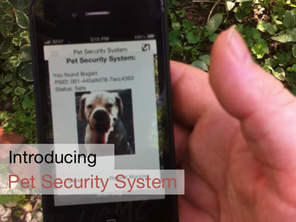 Pet Security System: your camera is your scanner (Canceled)'s video poster