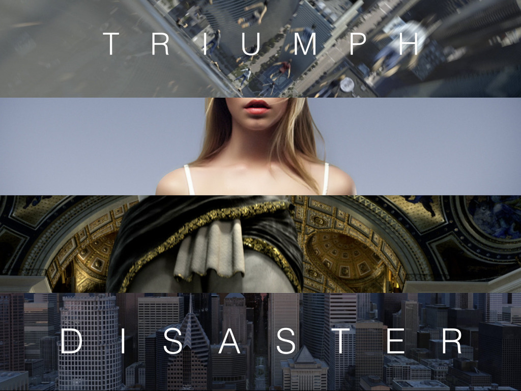 Triumph & Disaster's video poster
