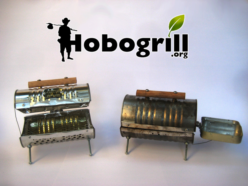 Hobogrill, tiny, bbq grill made from recycled materials.'s video poster