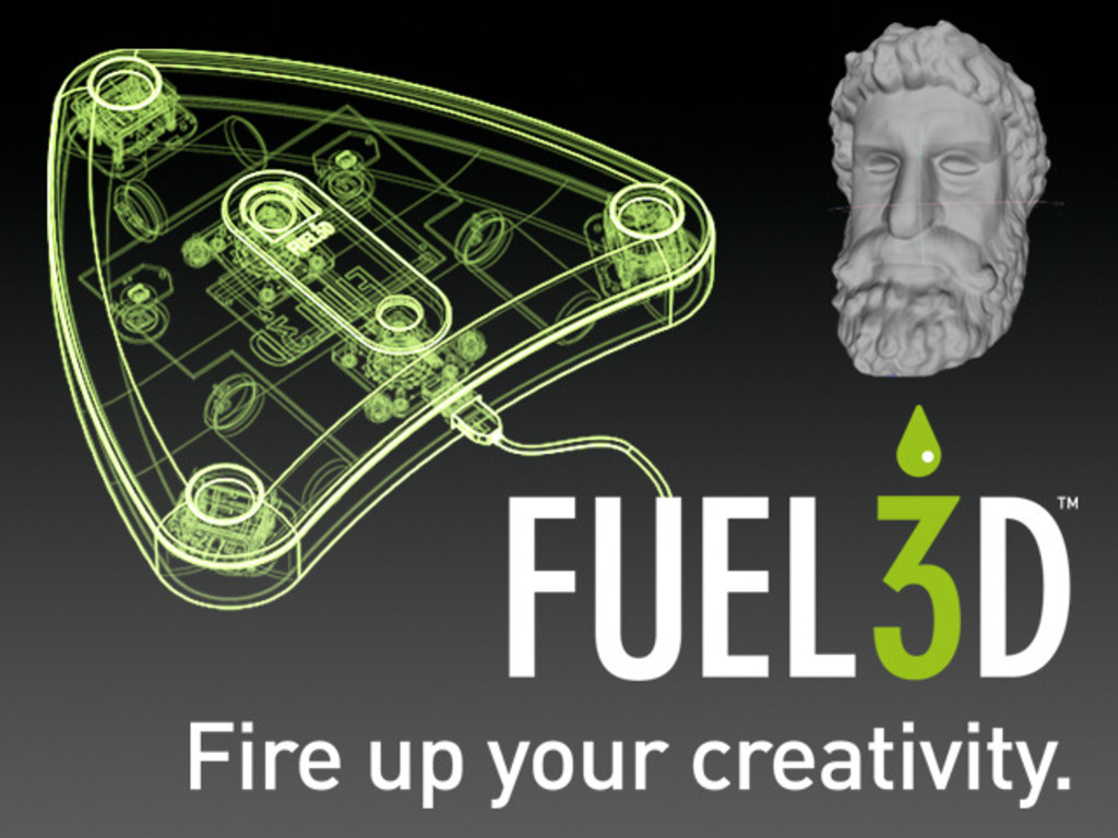 Fuel3D: A handheld 3D scanner for less than $1000's video poster