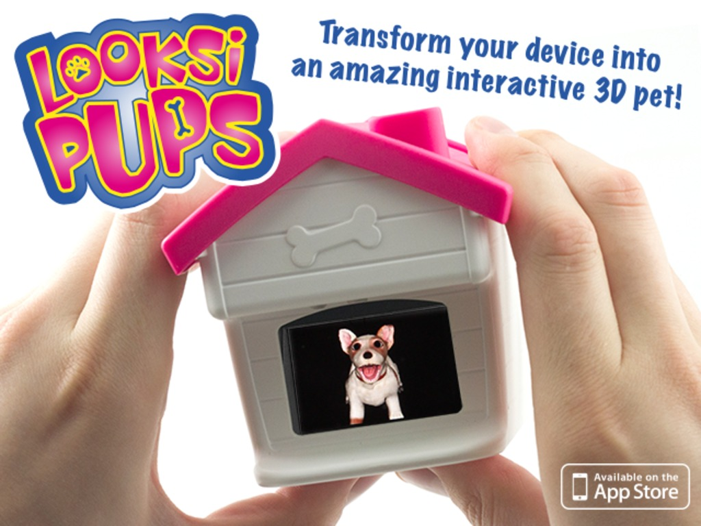 LOOKSI PUPS - A virtual app puppy that comes to life in 3D's video poster