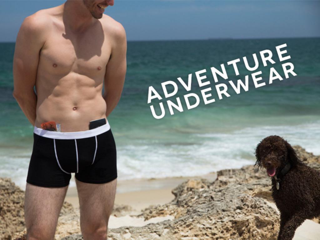 Adventure Underwear: Merino Briefs With A Waterproof Pocket's video poster