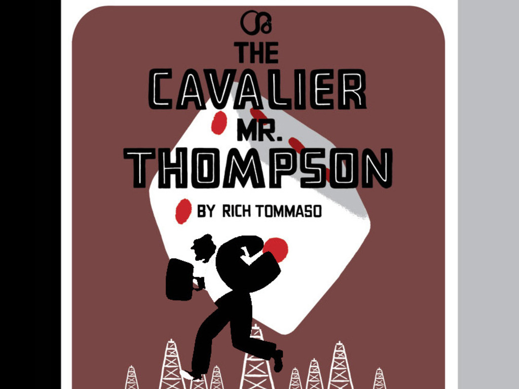 THE CAVALIER MR. THOMPSON: a comic book novel's video poster