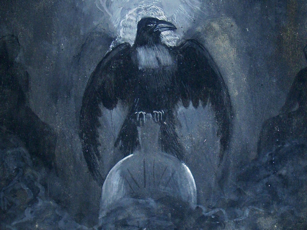 """Publish James Carling Illustrations of Poe's """"The Raven""""'s video poster"""