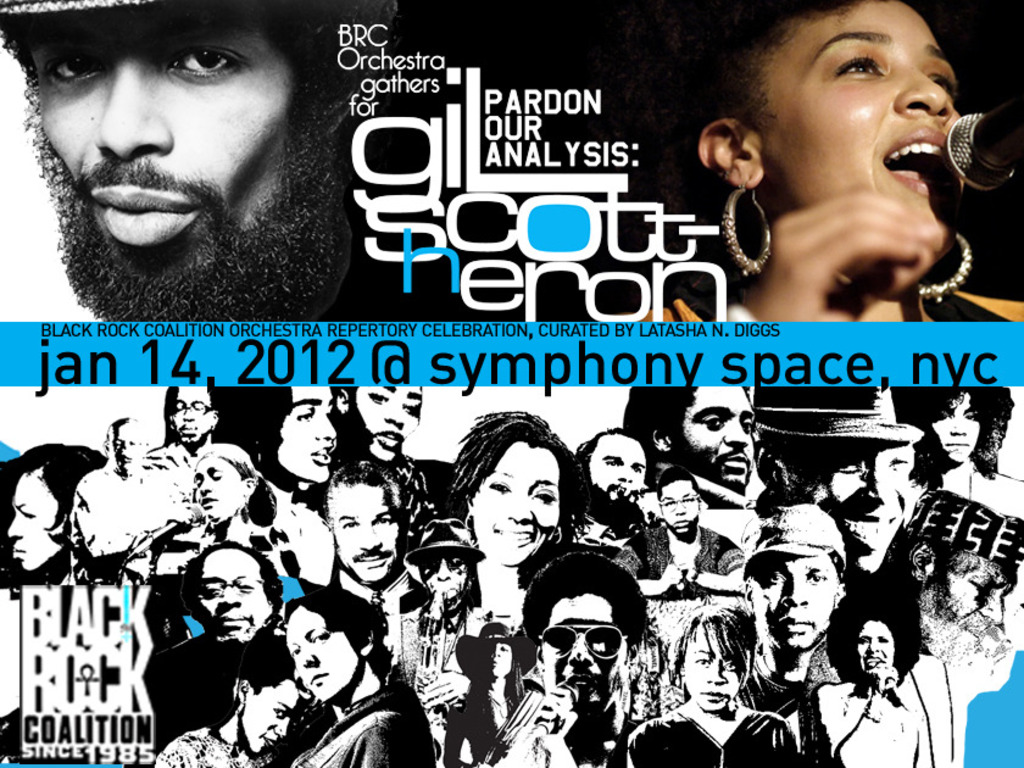 Black Rock Coalition Orchestra:Gathering for Gil-Scott Heron's video poster