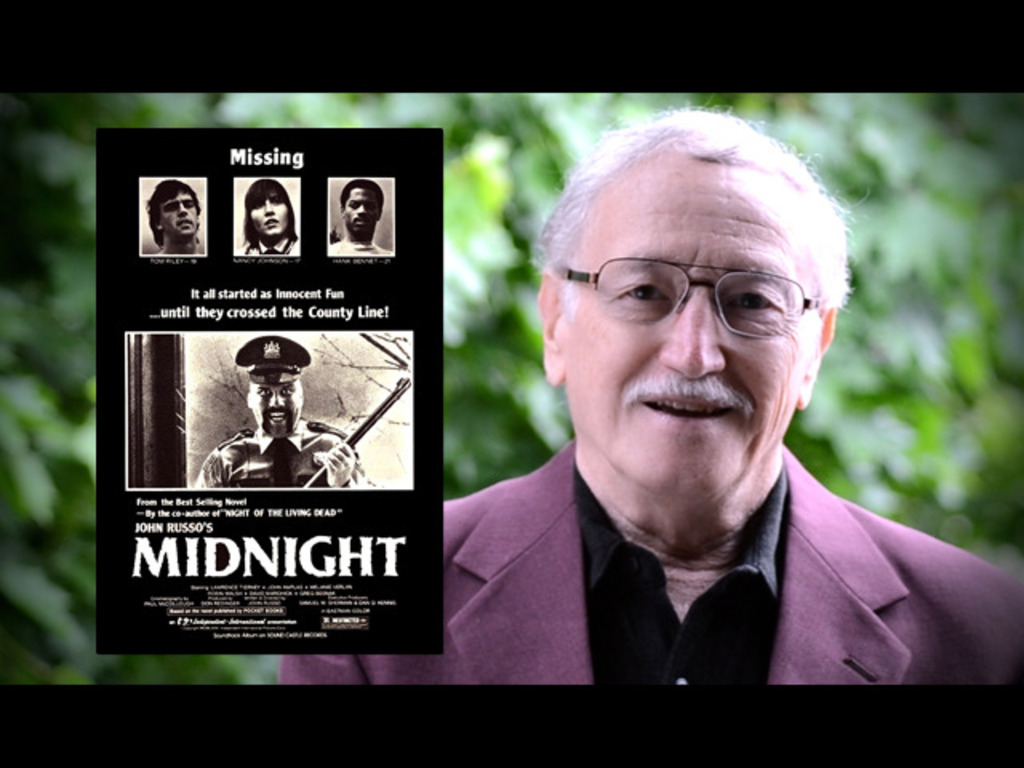 """John Russo's Remake of """"MIDNIGHT""""'s video poster"""