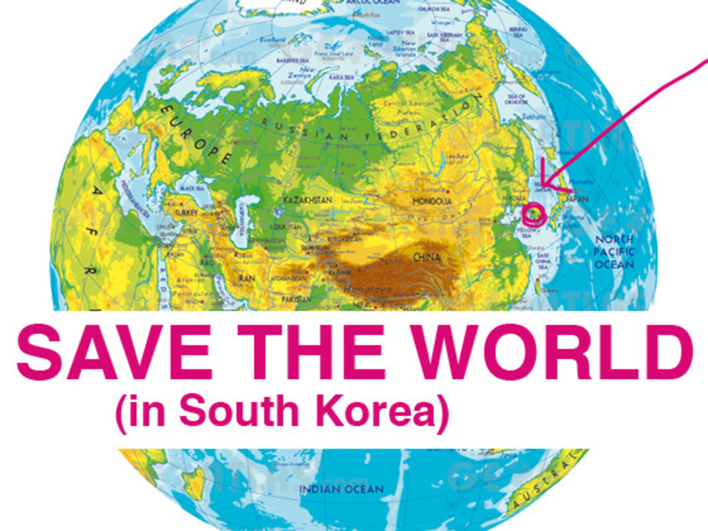 SAVE THE WORLD in South Korea's video poster