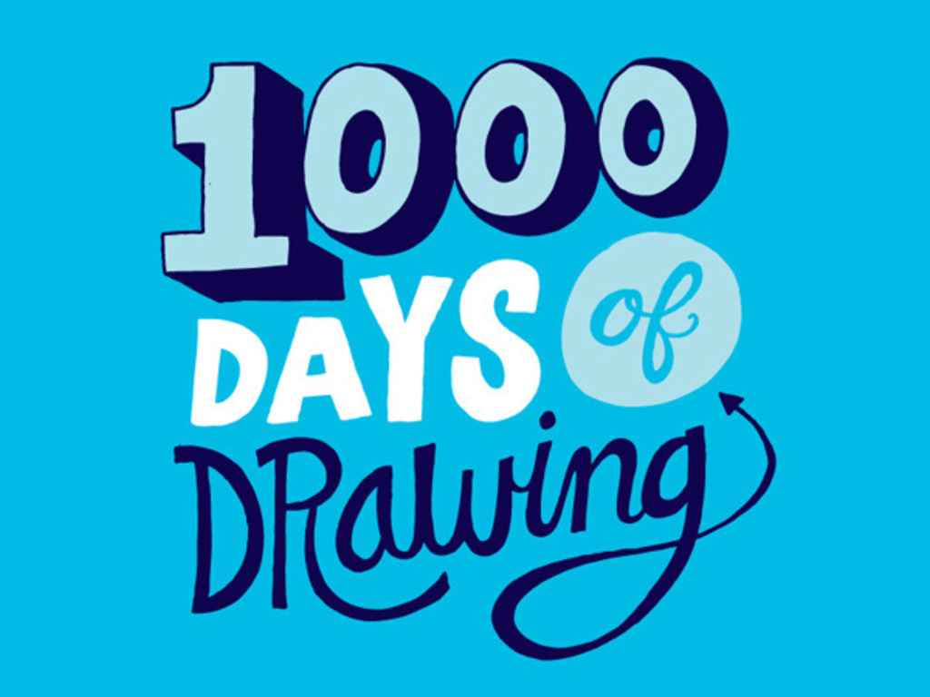1000 Days of Drawing's video poster