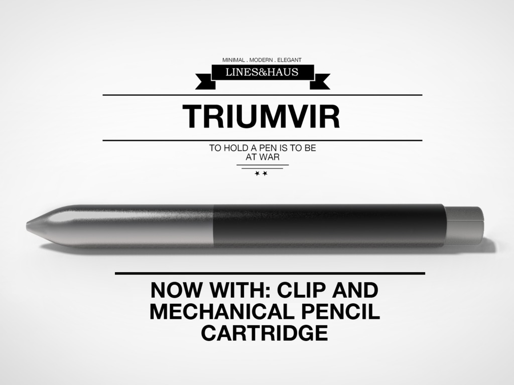 Triumvir Pen : A multifunction alloy pen's video poster