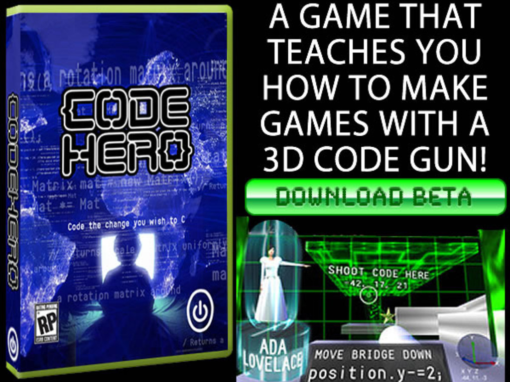Code Hero: A Game That Teaches You To Make Games's video poster