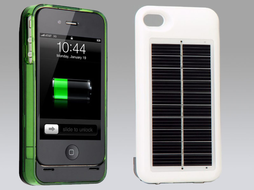 Hybrid Solar Battery Case + Color Bumper For iPhone 4 / 4S's video poster