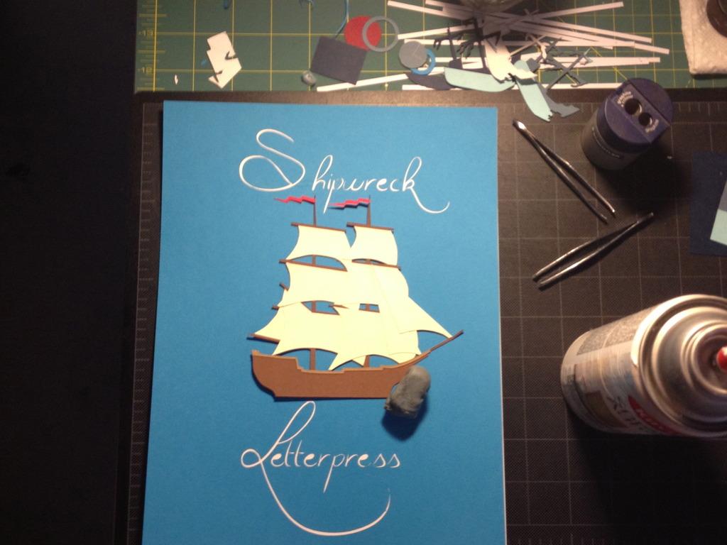 Shipwreck Letterpress's video poster