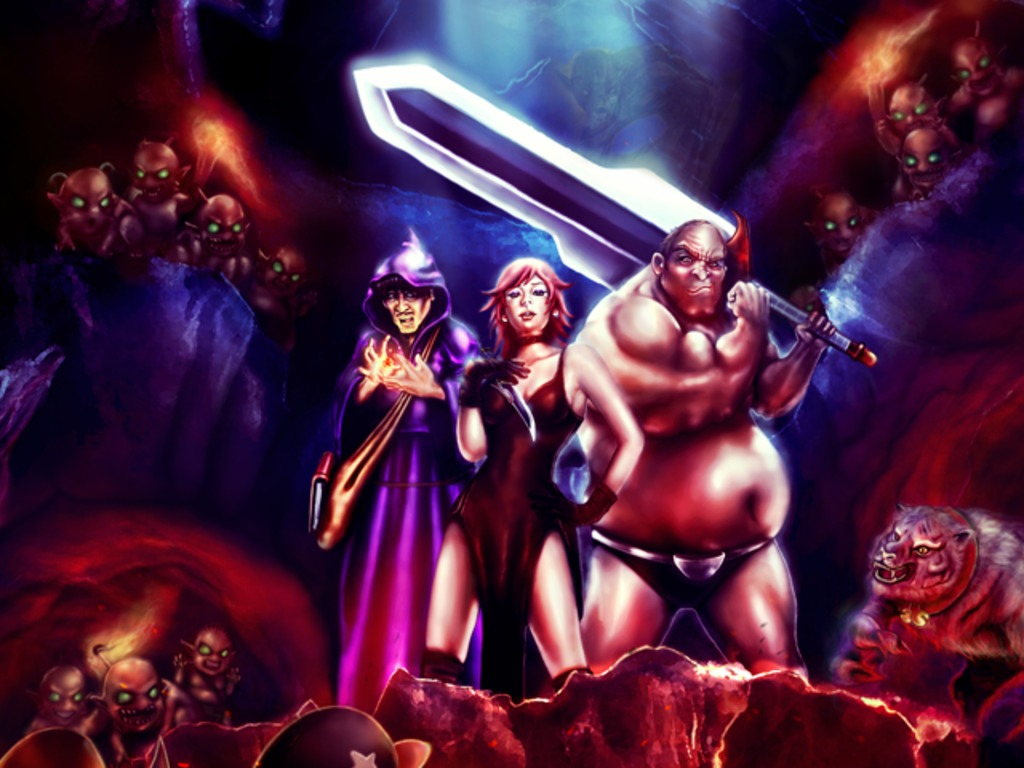 Dungeons the Eye of Draconus completion fund +OUYA/Linux/Mac's video poster