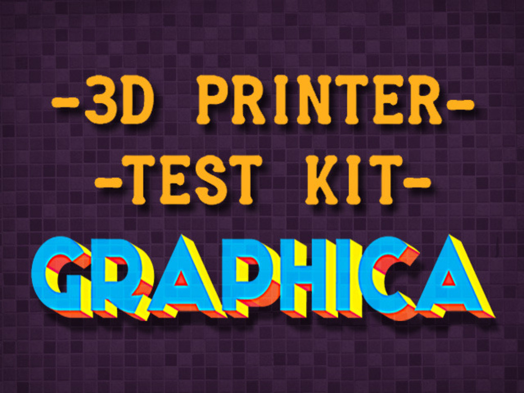 3D Printer Test Kit - GRAPHICA's video poster