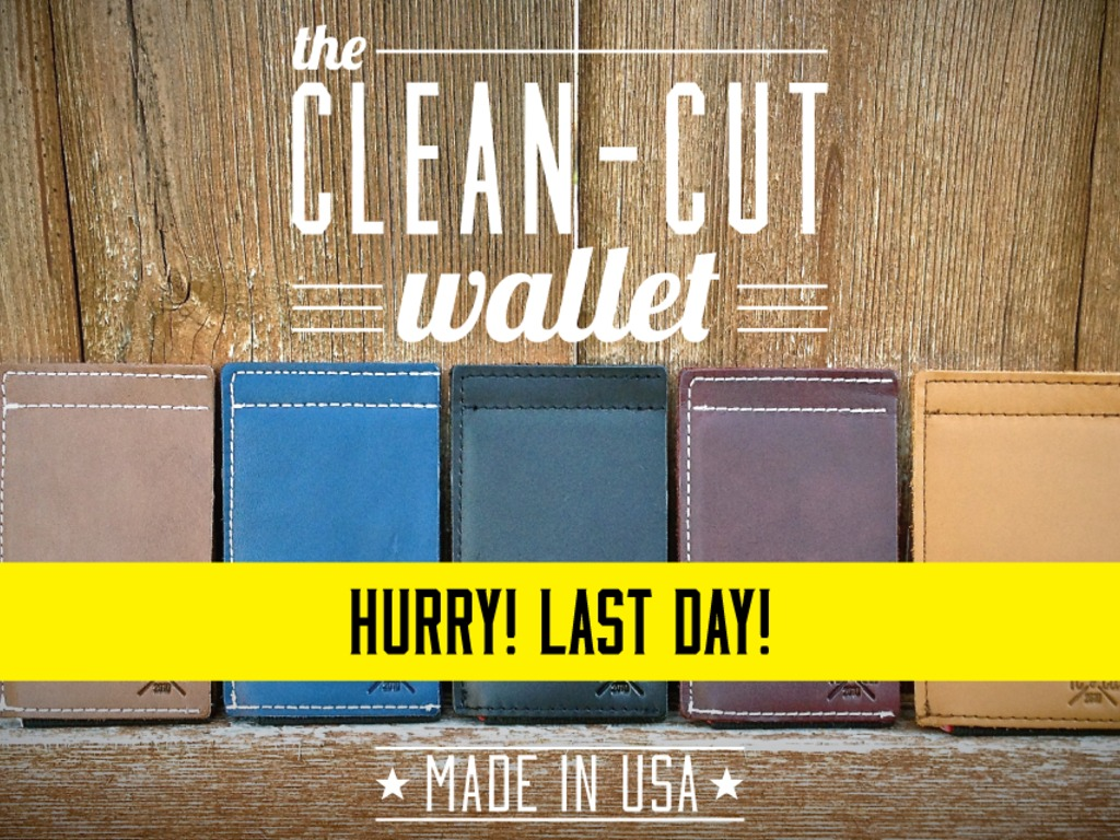 The Clean-Cut Wallet: leather + elastic. Made in USA.'s video poster