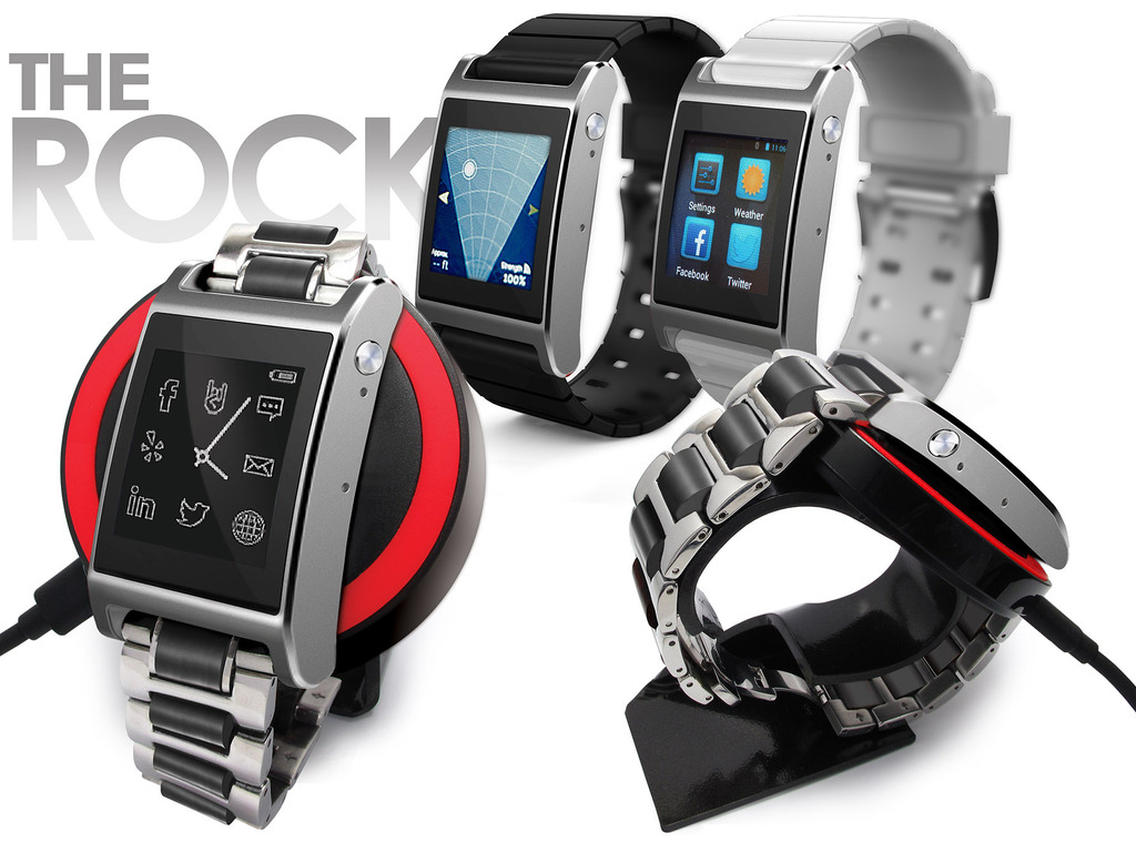 Rock™ SMARTWATCH: Perfect Xmas Gift, First Stylish Qi & WiFi's video poster