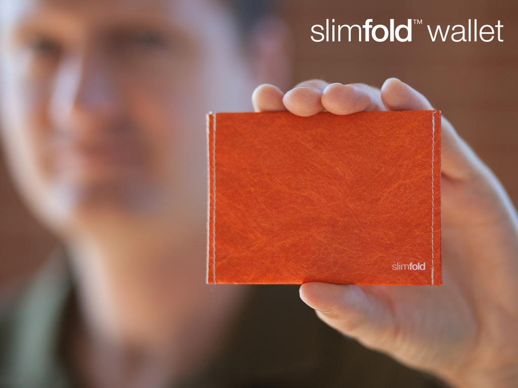 SlimFold MICRO: A super thin wallet stitched from Tyvek's video poster