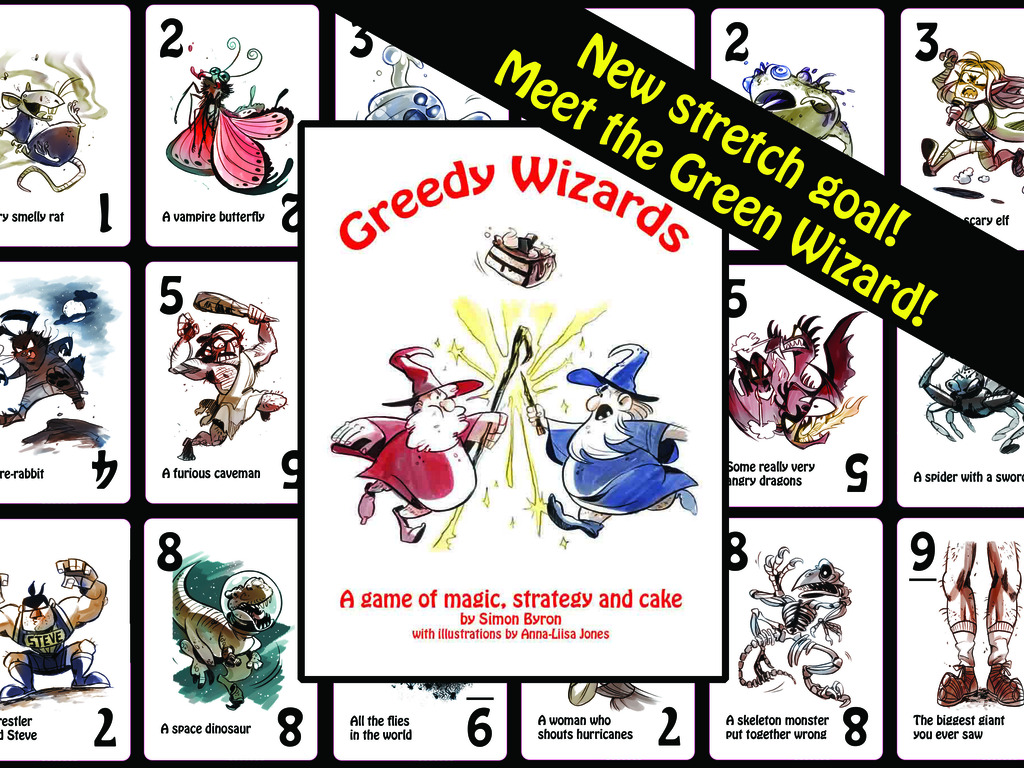 Greedy Wizards - a two-player card game of magic and cake's video poster