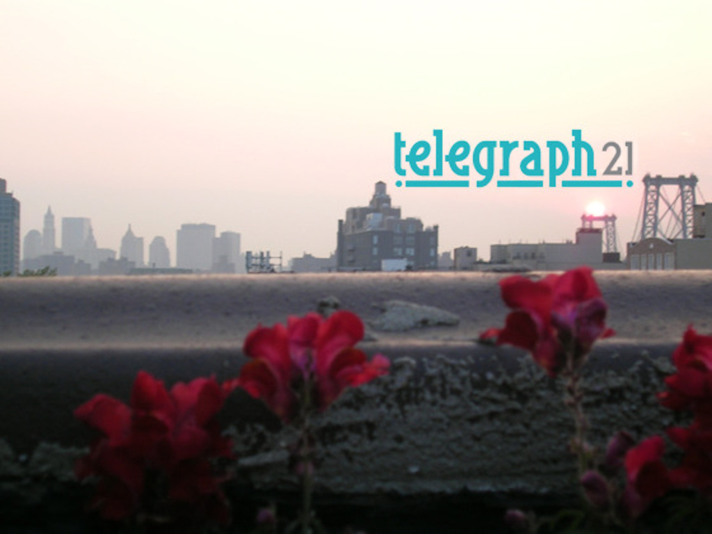A new web video concept: telegraph21.'s video poster