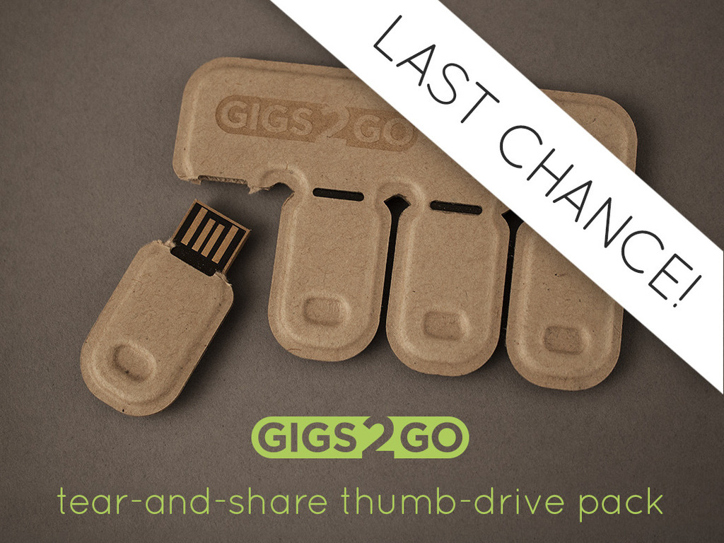 Gigs 2 Go: Tear & Share Thumb Drive Pack in Recycled Paper's video poster
