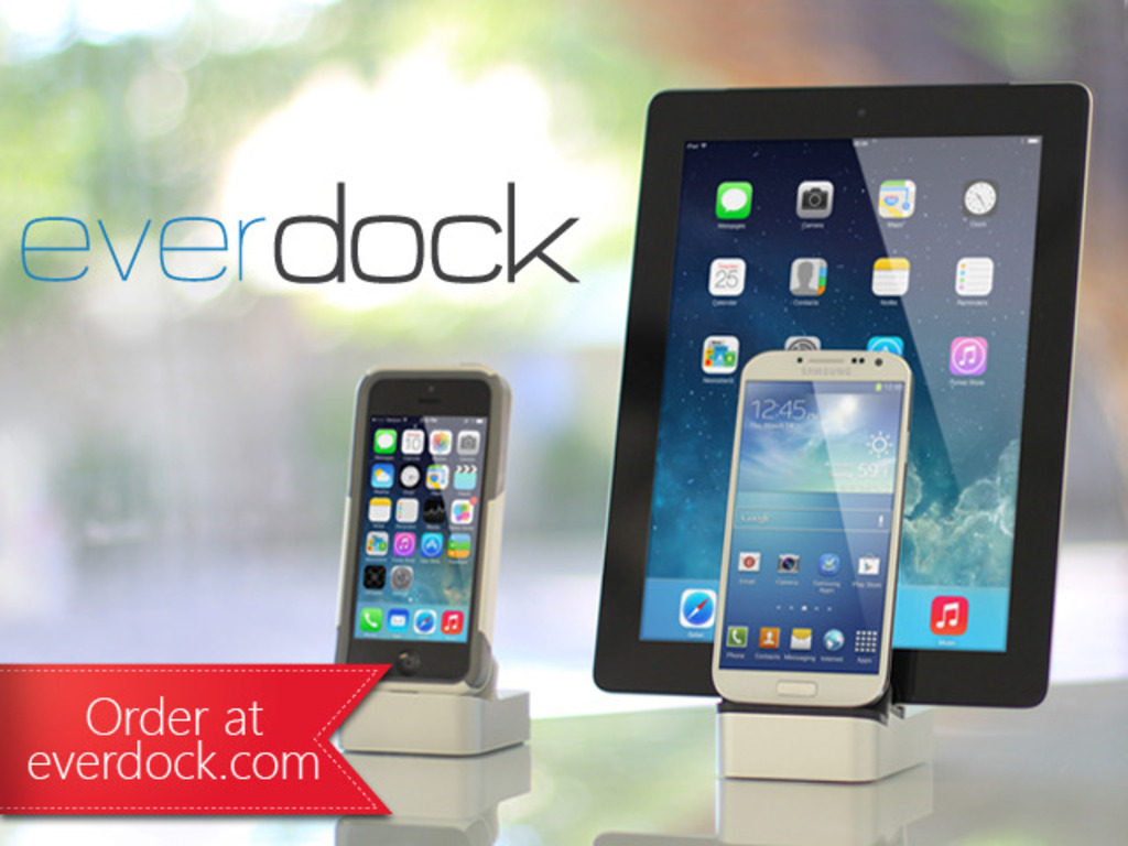 EverDock: iPhone 5S, 5C, 5, 4, iPad, iPad Mini, Android Dock's video poster