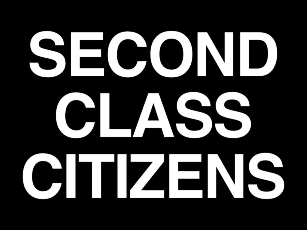Second Class Citizens Documentary's video poster