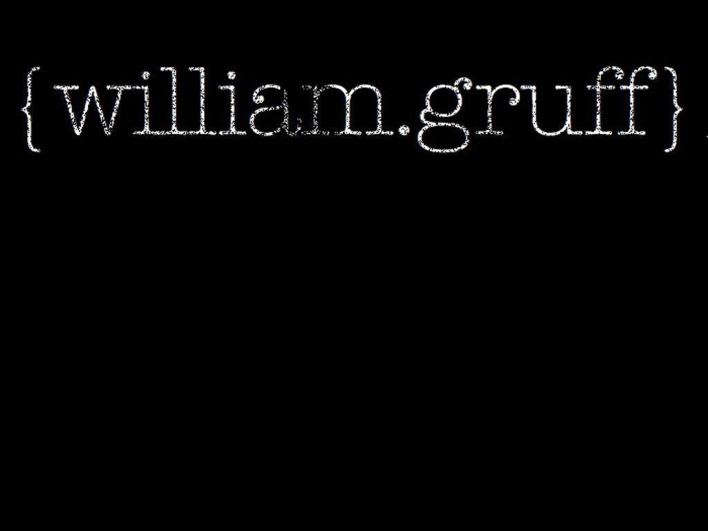 William Gruff's video poster