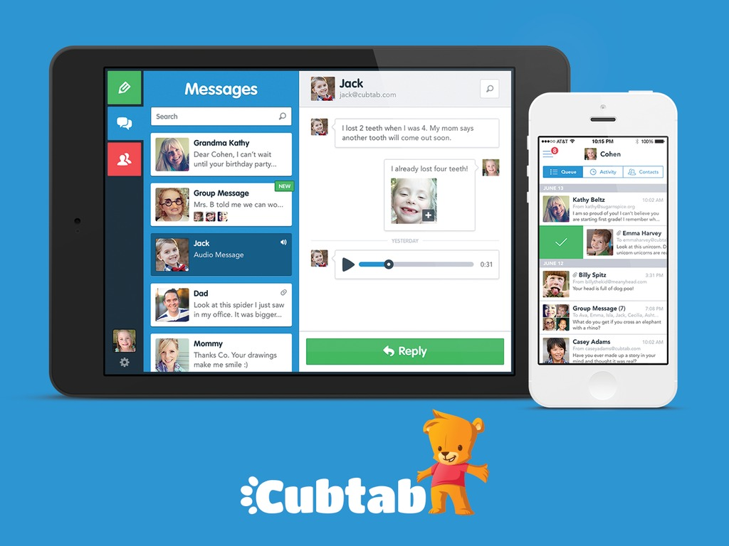 Cubtab: Fun and Safe Email for Kids!'s video poster