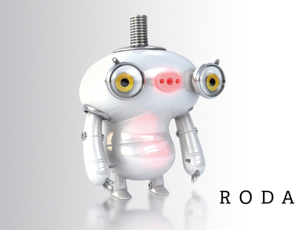 RODA: A clumsy robot stumbles through Happical Zoo's video poster