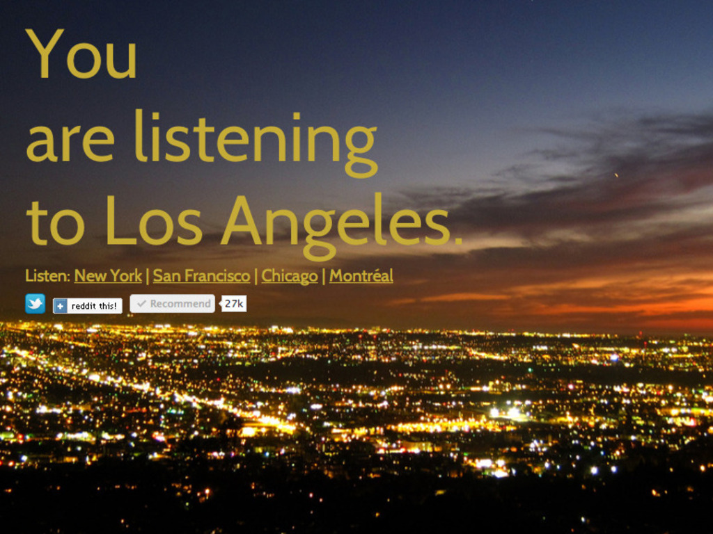 You Are Listening to Los Angeles's video poster
